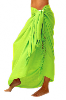 SARONG-KD-SOLID-GREEN-LIME